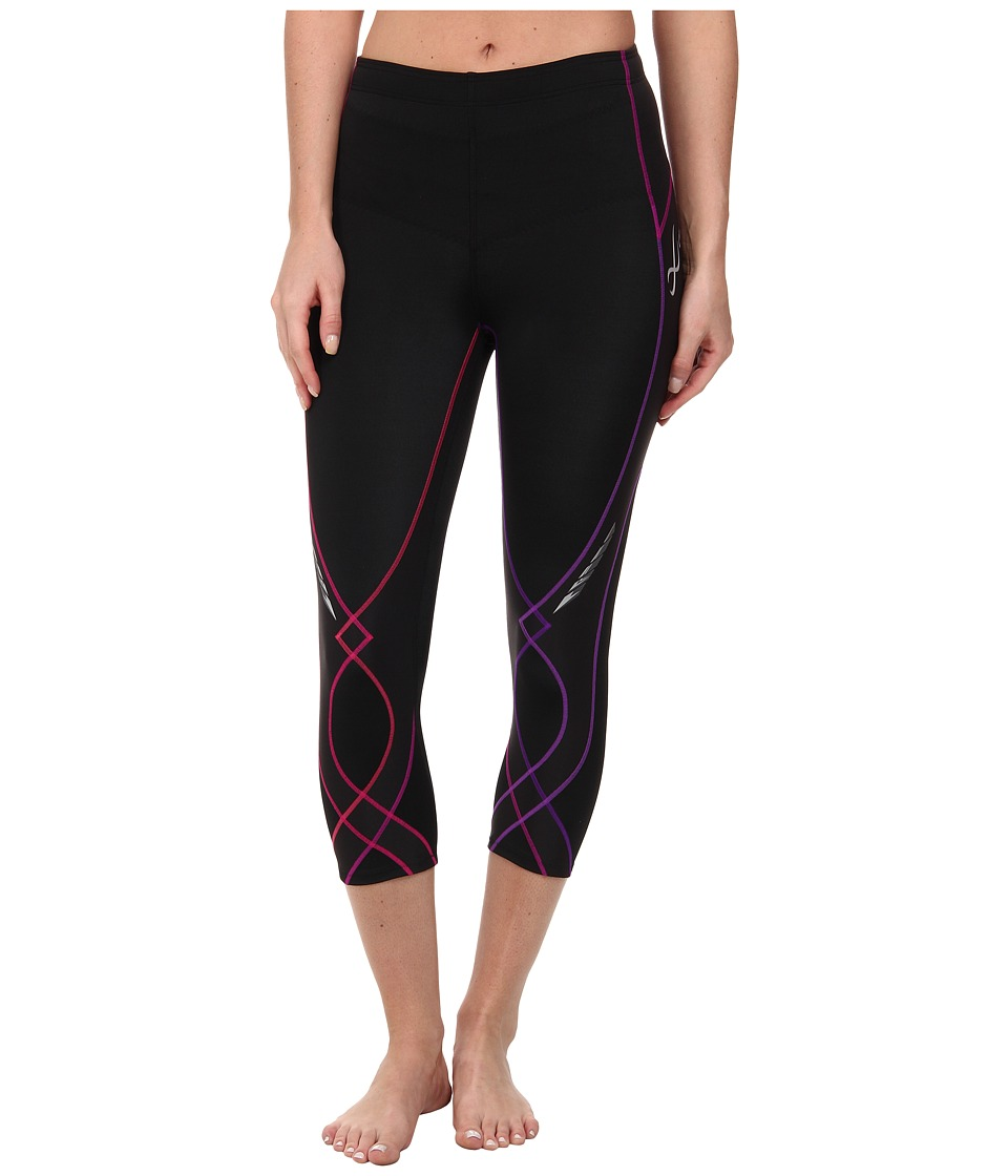 CW-X - Stabilyx 3/4 Tight (Black/Purple Gradation) Women's Workout