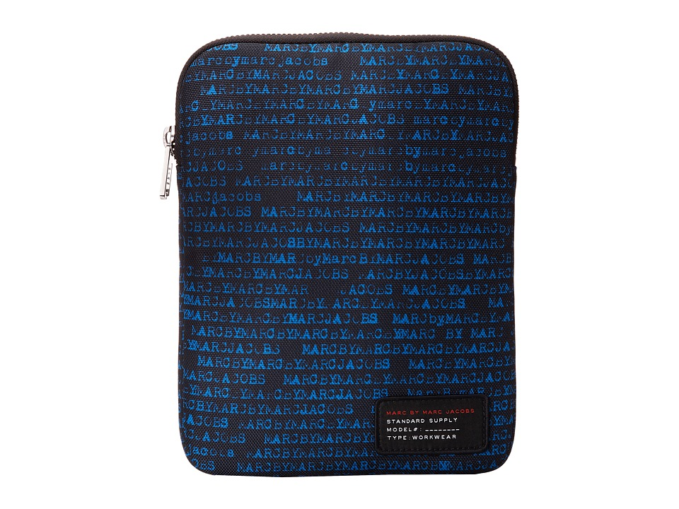 Marc by Marc Jacobs - Typewriter Printed Cordura Tablet Case (Aquamarine Multi) Computer Bags