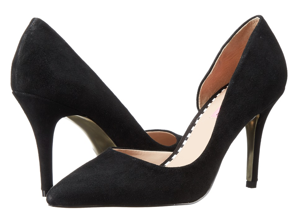 Betsey Johnson Cossmo (Black Suede) High Heels
