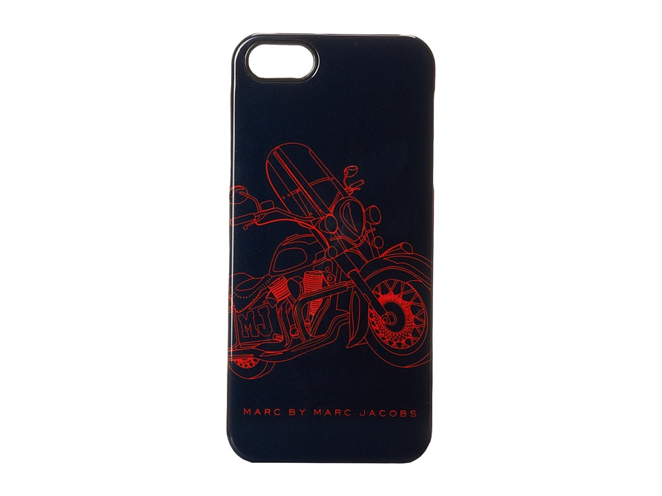 Marc by Marc Jacobs - Motorcycle Print Phone Case (Ink Blue Multi) Cell Phone Case
