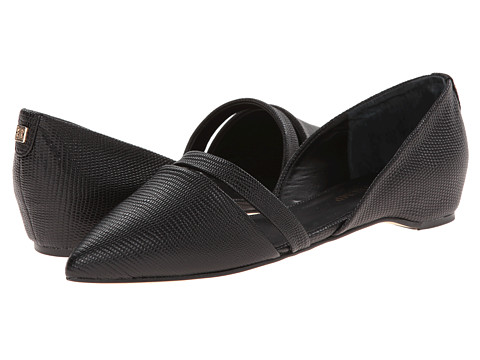 Ivanka Trump - Cree (Black Lizard Nappa) Women's Dress Flat Shoes