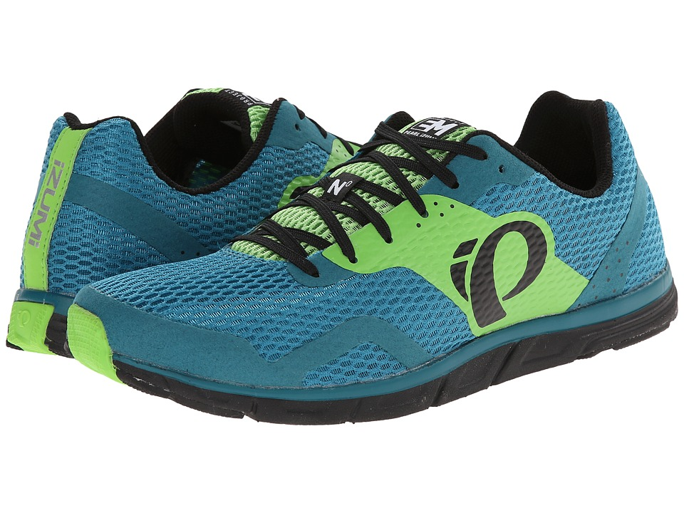 Pearl Izumi - Em Road N 0 (Harbor Blue/Green Flash) Men's Running Shoes