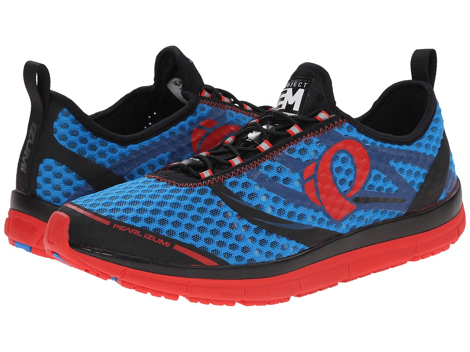Pearl Izumi - Em Tri N 2 (Brilliant Blue/Firey Red) Men's Running Shoes