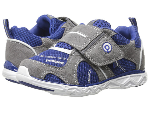 pediped - Axel Flex (Toddler/Little Kid) (Mid Grey/King Blue) Boy's Shoes