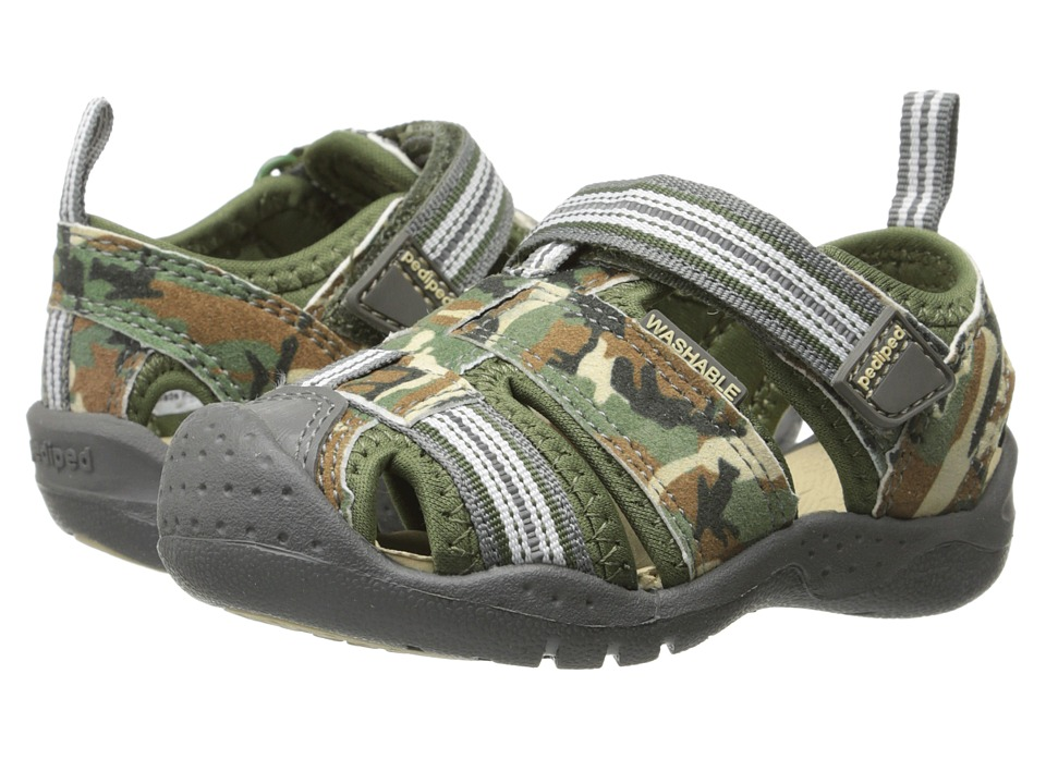 pediped - Sahara Flex (Toddler/Little Kid) (Army Camo) Boys Shoes