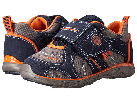 pediped - Axel Flex (Toddler/Little Kid) (Navy/Mid Grey) Boy's Shoes