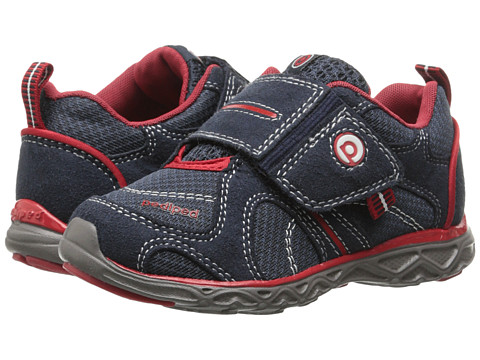 pediped - Axel Flex (Toddler/Little Kid) (Navy/Cherry) Boy's Shoes