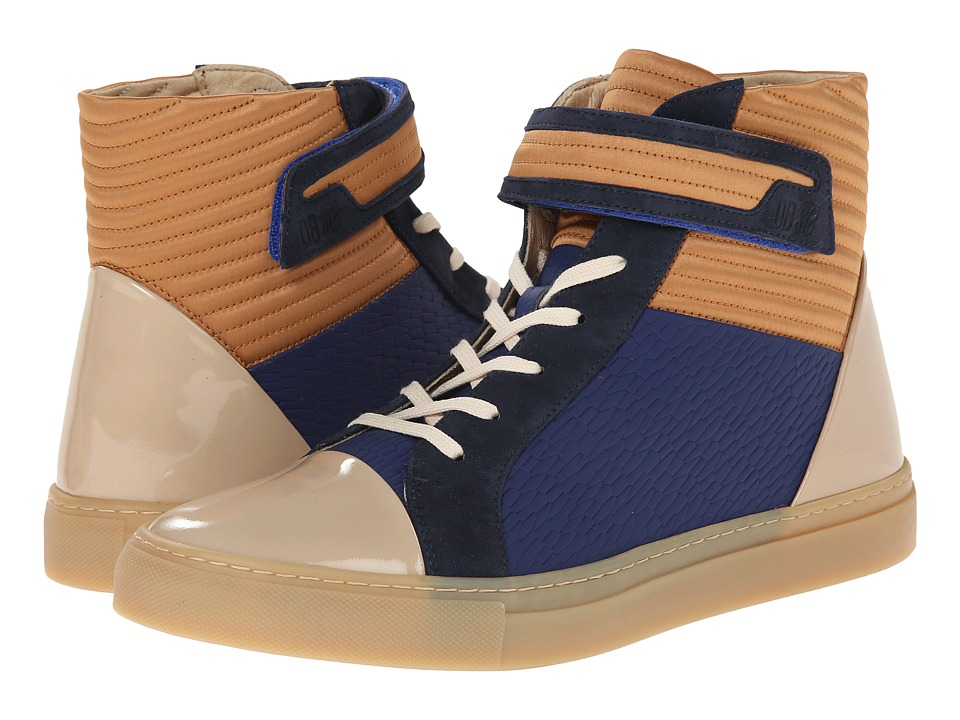 Bikkembergs - Box 201 Mid Sneaker (Bluette/Cognac) Men's Shoes