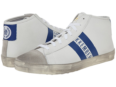 Bikkembergs - Twentyfive 280 Mid Sneaker (White/Light Blue) Men's Lace up casual Shoes