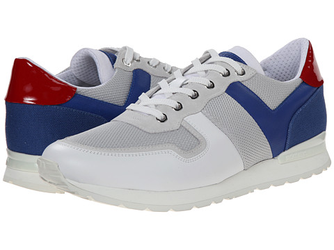 Bikkembergs - Mant 410 Low Sneaker (Ice/Blue) Men's Shoes
