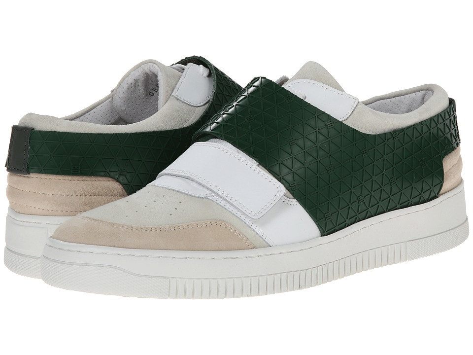 Bikkembergs - Strong-er 218 Low Sneaker (White/Green) Men's Shoes