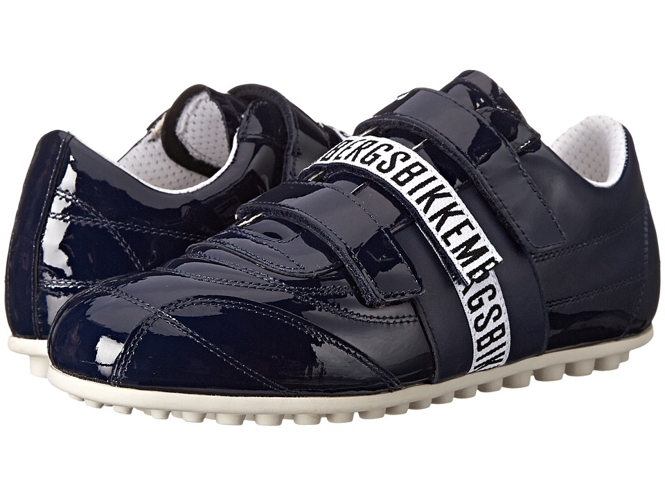 Image of Bikkembergs - Soccer 526 Low Sneaker (Blue Patent) Men's Shoes