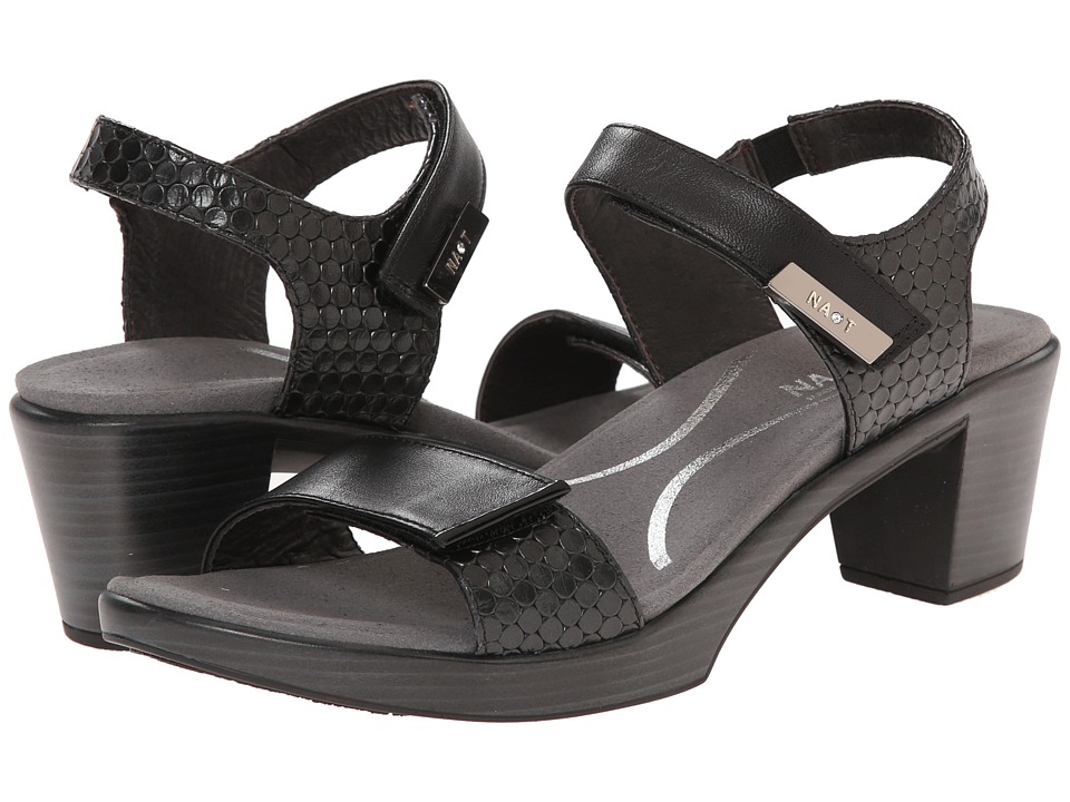 Naot Footwear Intact (Black Raven Leather/Graphic Black Leather/Black Patent Leather) Women