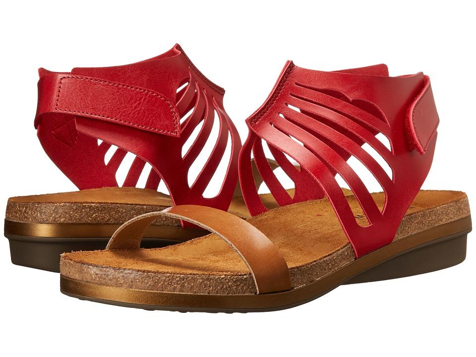 Naot Footwear - Mint (Deep Red/Camel) Women's Shoes