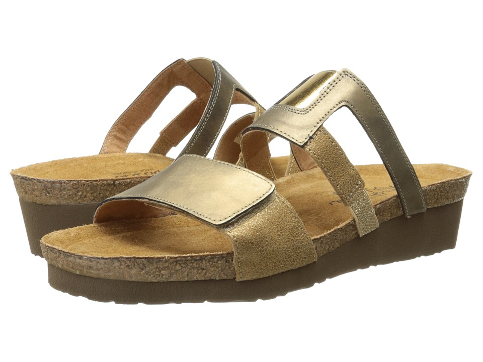 Naot Nancy (Brass Leather/Gold Shimmer Leather) Women