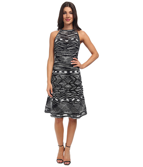 M Missoni - Crochet Zig Zag Dress (Black) Women's Dress