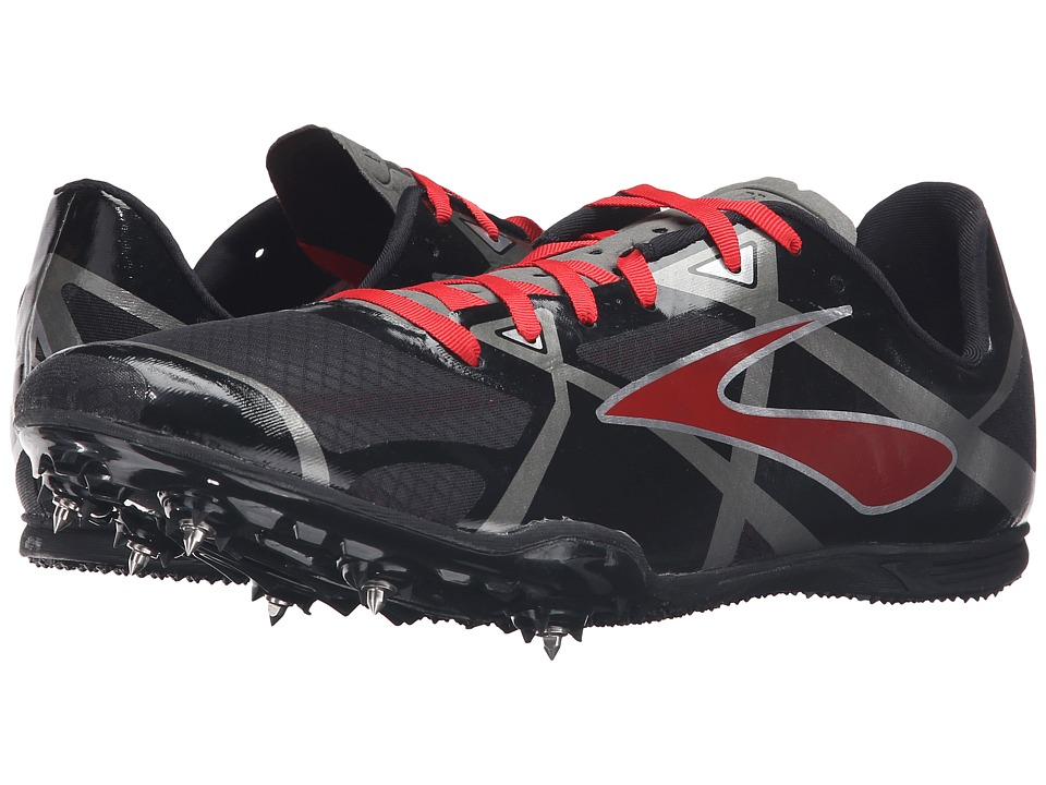 Brooks - PR MD 3 (Black/High Risk Red/Anthracite) Men's Running Shoes