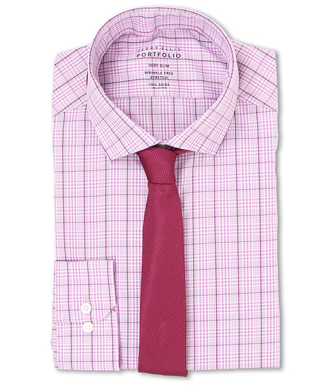 Perry Ellis - Very Slim Wrinkle Free Check (Purple Harmony) Men