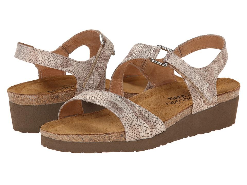 Naot - Pamela (Beige Snake Leather) Women's Sandals