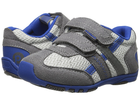 pediped - Gehrig Flex (Toddler/Little Kid) (Mid Grey/Blue) Boys Shoes