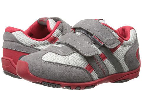 pediped - Gehrig Flex (Toddler/Little Kid) (Mid Grey/Cherry) Boys Shoes