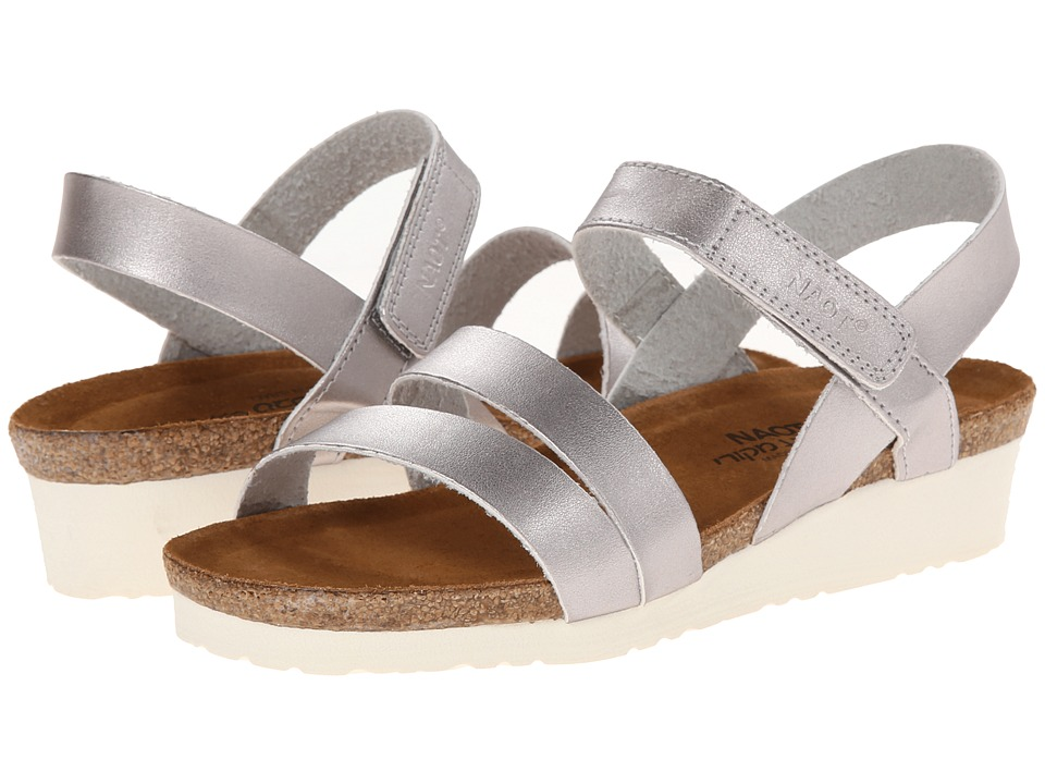 Naot Footwear - Kayla (Shiny Silver) Women's Sandals