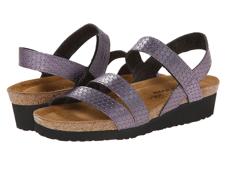 Naot Footwear - Kayla (Graphic Purple Leather) Women's Sandals
