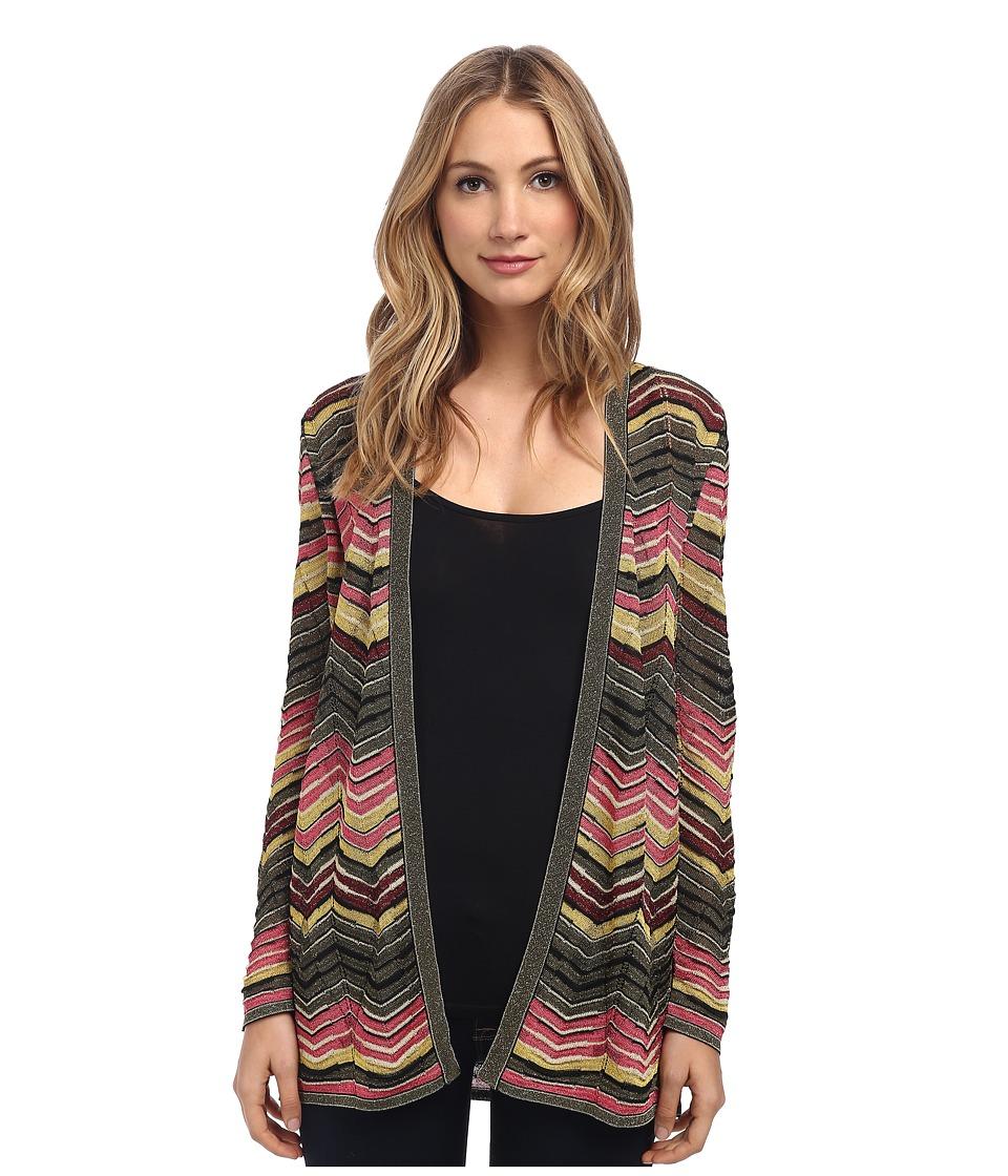 M Missoni - Lurex Multi Zig Zag Cardigan (Pink) Women's Sweater