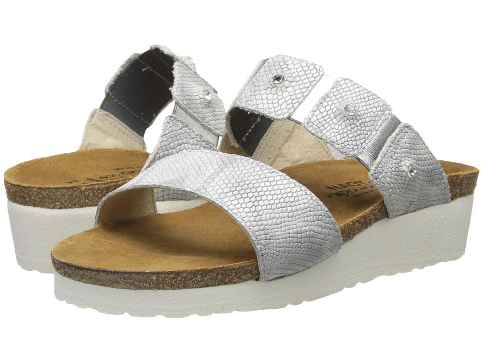 Naot Footwear - Ashley (Silver Snake Leather) Women's Sandals