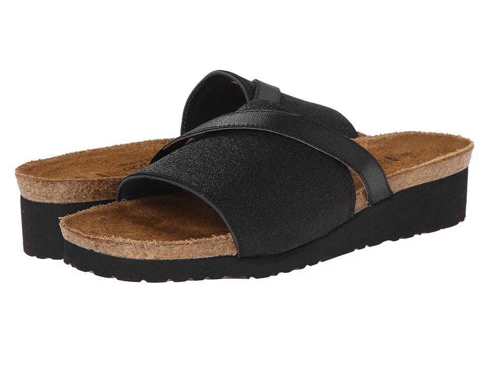 Naot Footwear - Marion (Black Sparkle Stretch/Black Stretch) Women's Shoes
