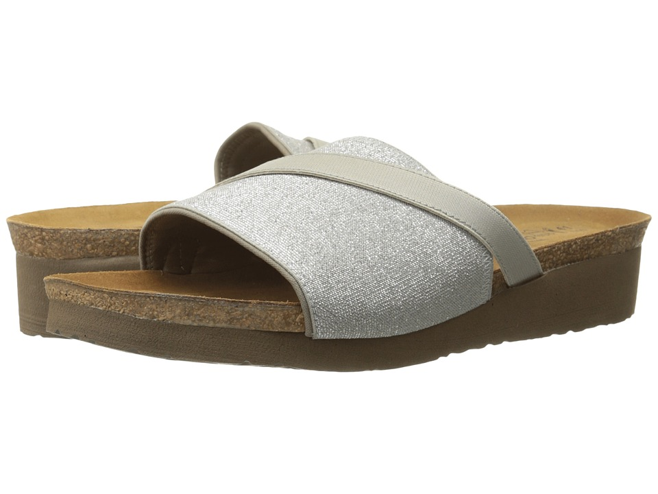 Naot Footwear Marion (Silver Sparkle Stretch/Light Gray Stretch) Women