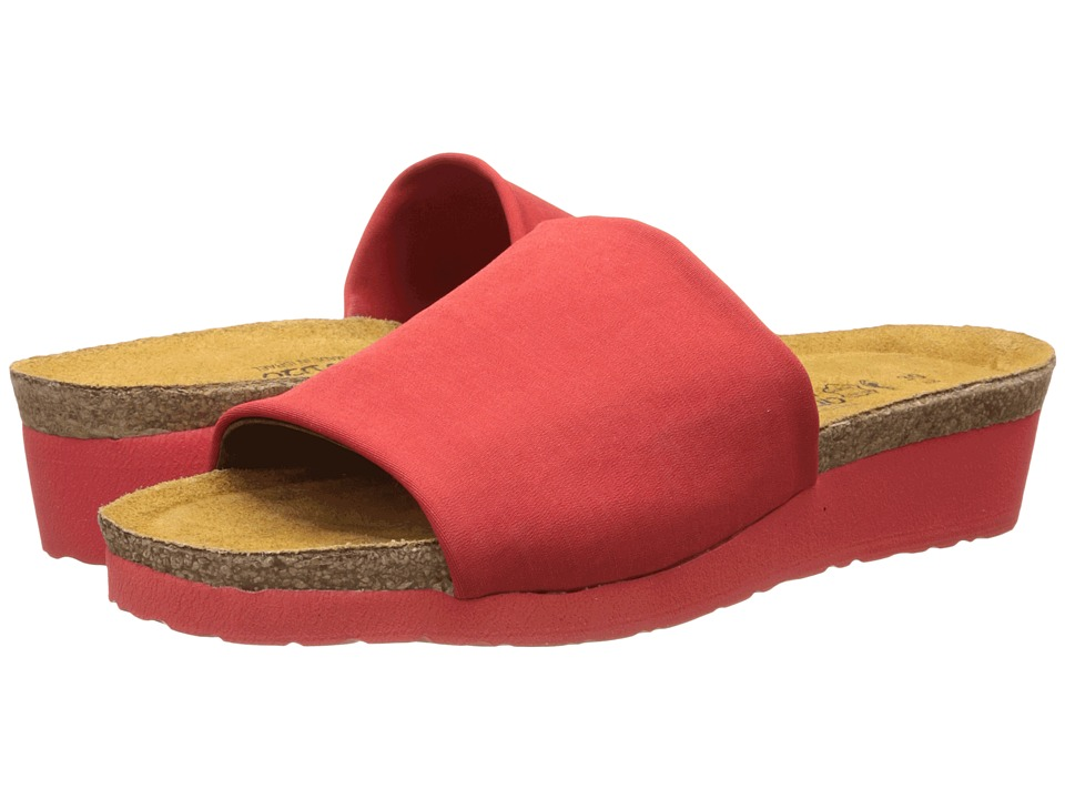 Naot Footwear - Alana (Flame Red Stretch 1) Women's Sandals