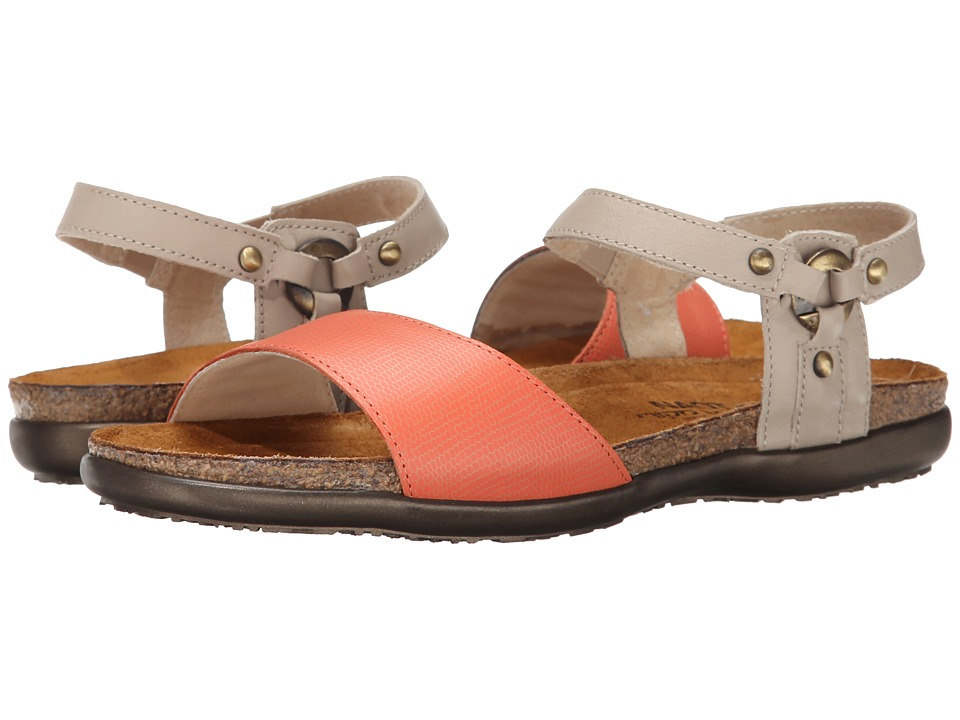 Naot Footwear - Sabrina (Peach Leather/Linen Leather) Women's Shoes