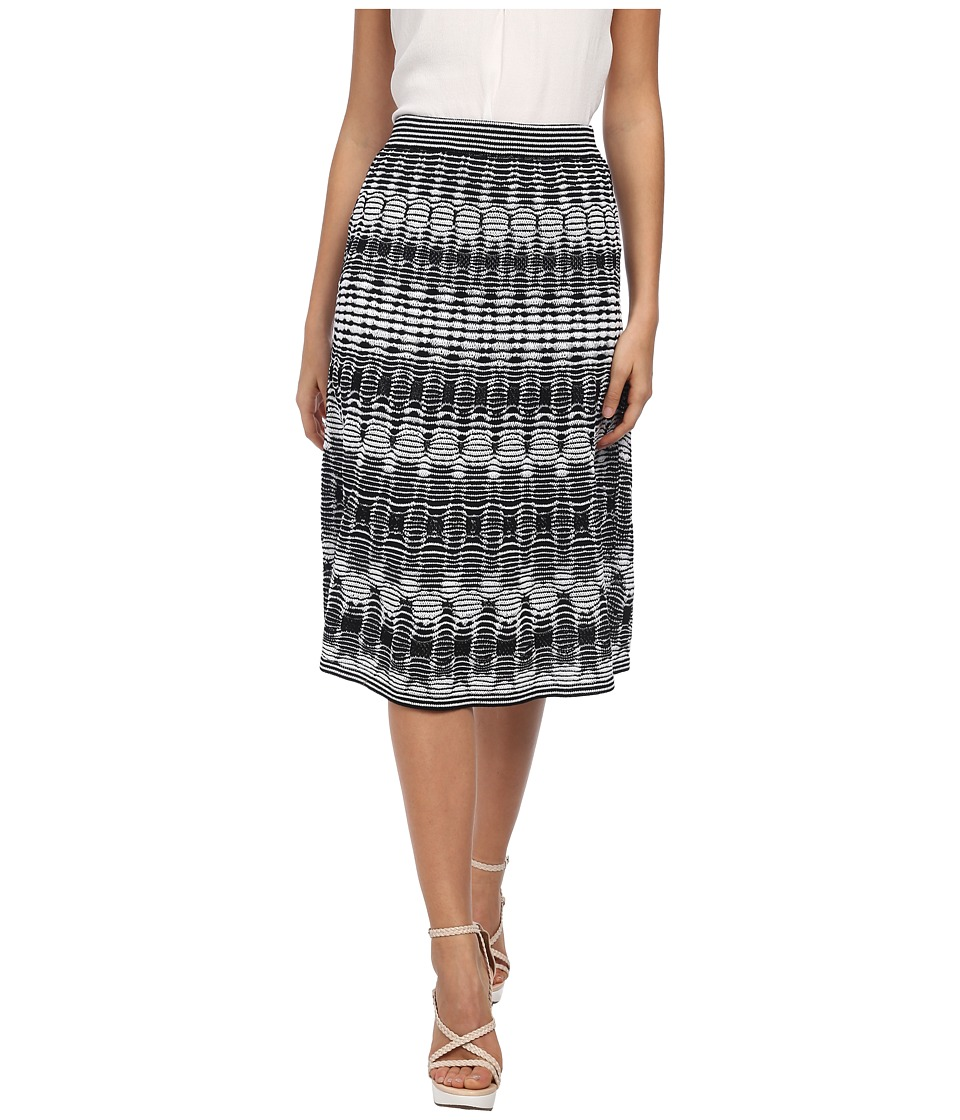 M Missoni - Tie-Dye Open Knit Skirt (Black) Women's Skirt
