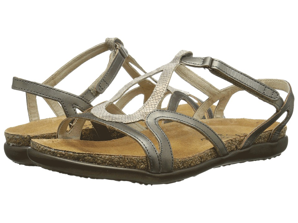Naot Dorith (Beige Snake Leather/Pewter Leather) Women