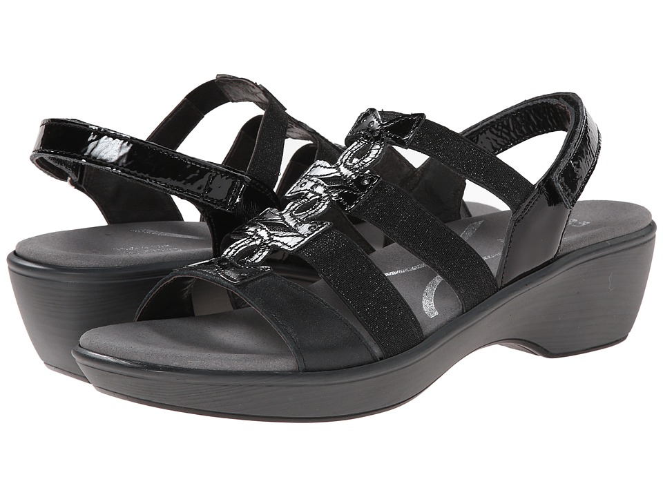 Naot Footwear - Malbec (Black Patent Leather/Shiny Black Leather) Women