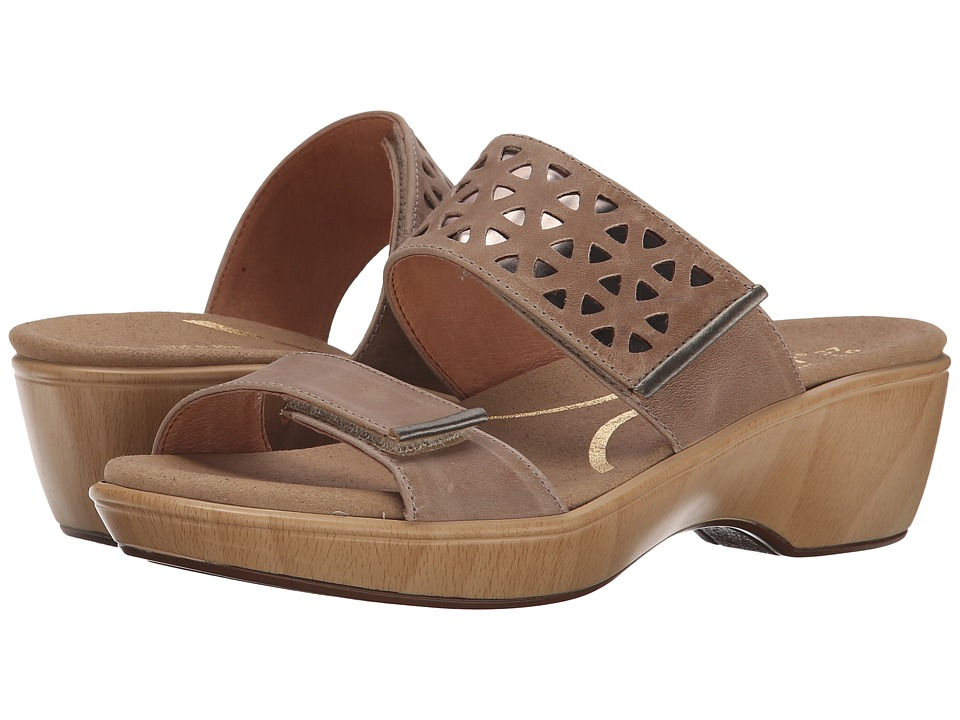 Naot Footwear - Moreto (Khaki Beige Leather/Glass Silver/Pewter Leather) Women's Shoes
