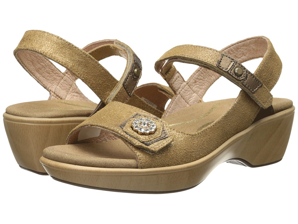 Naot Footwear - Reserve (Gold Shimmer Leather/Grecian Gold Leather/Gold Shimmer Leather) Women