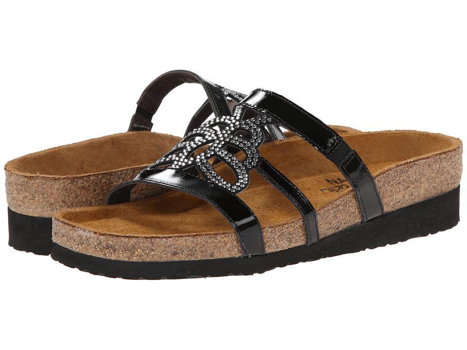 Naot Footwear Aventura (Black Patent Leather) Women