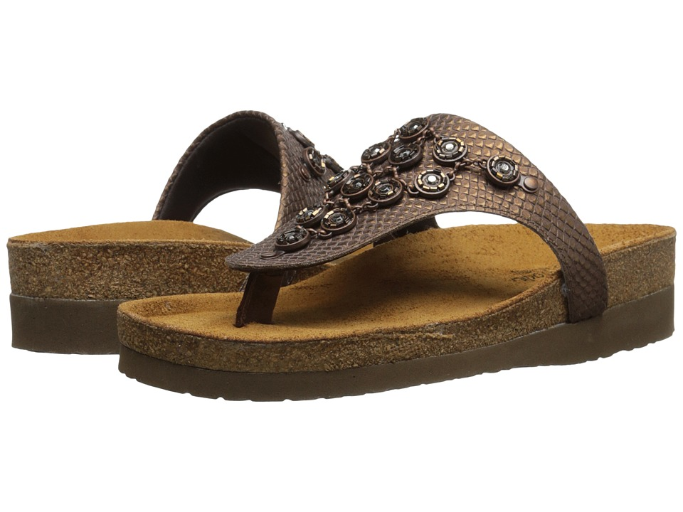 Naot Footwear - Juneau (Brown Lizard Leather/Java Nubuck) Women's Shoes