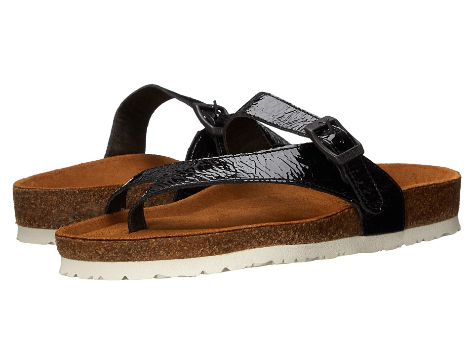 Naot Footwear - Tahoe (Black Crinkle Patent) Women's Sandals