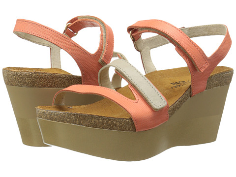 Naot Footwear - Canaan (Peach Leather/Linen Leather) Women's Shoes