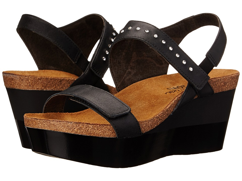 Naot Prodigy (Shiny Black Leather) Women