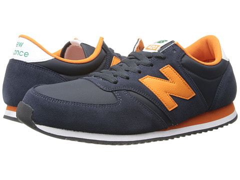 New Balance Classics - U420 (Navy/Yellow) Men's Classic Shoes