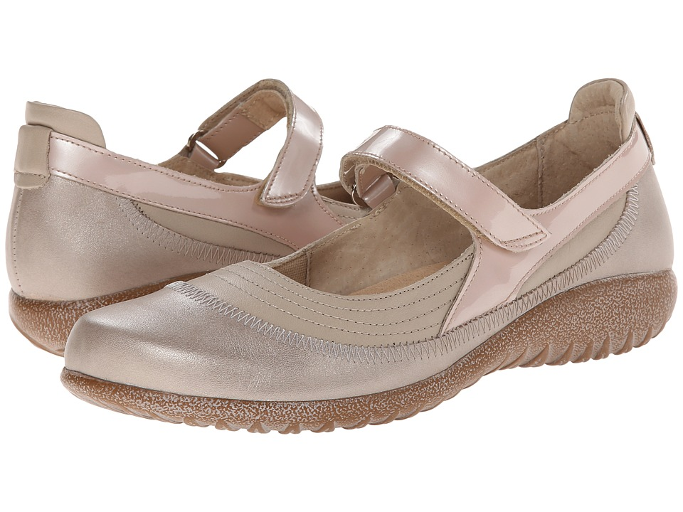 Naot Footwear - Kirei (Linen Leather/Stardust Leather/Satin Beige Leather) Women's Maryjane Shoes