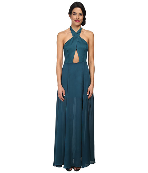 StyleStalker - The Queen of the Night Dress (Teal) Women's Dress