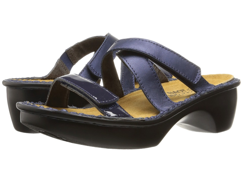 Naot Quito (Polar Sea Leather/Navy Patent Leather) Women