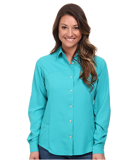White Sierra - Gobi Desert Long Sleeve Shirt (Vivid Green) Women's Long Sleeve Button Up