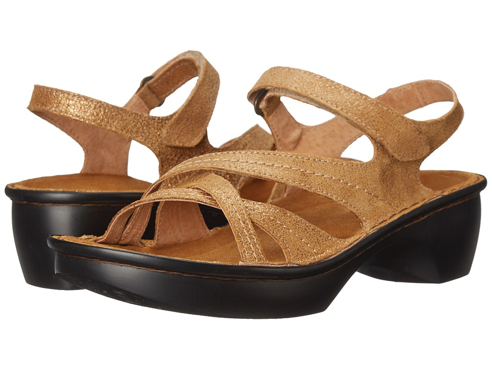 Naot Footwear - Paris (Gold Shimmer Leather) Women