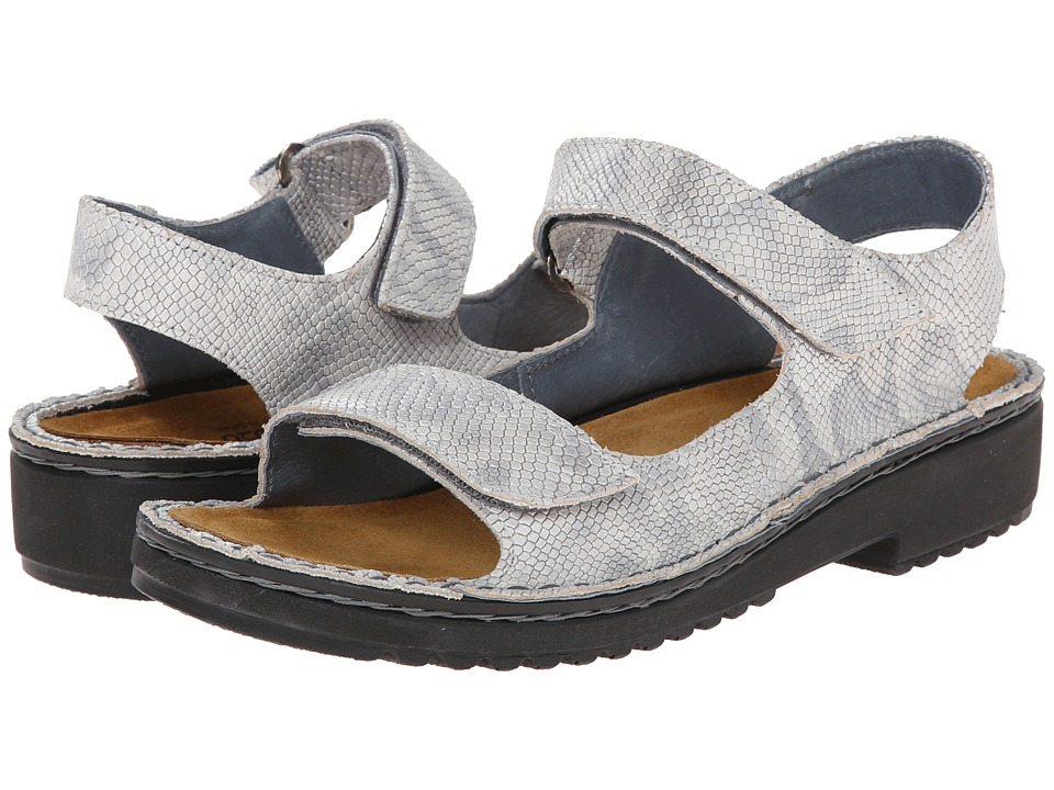 Naot Footwear - Karenna (Silver Snake Leather) Women's Sandals